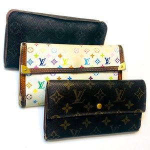 SET OF 3 LOUIS VUITTON Monogram Multicolor Wallets